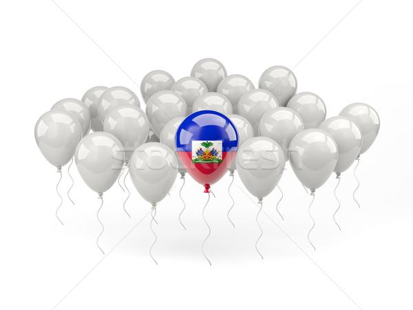Lucht ballonnen vlag Haïti geïsoleerd witte Stockfoto © MikhailMishchenko