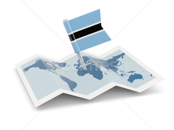карта флаг Ботсвана изолированный белый Сток-фото © MikhailMishchenko