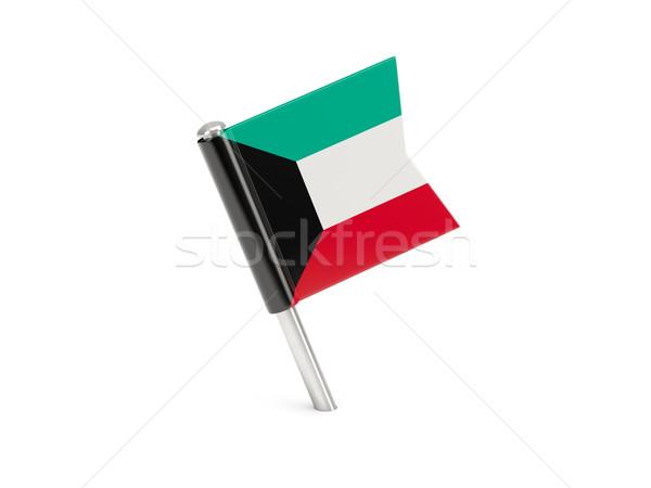 флаг Pin Кувейт изолированный белый Сток-фото © MikhailMishchenko