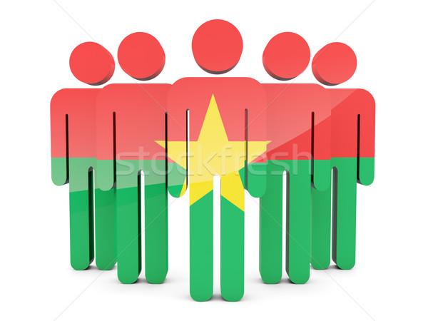 People with flag of burkina faso Stock photo © MikhailMishchenko
