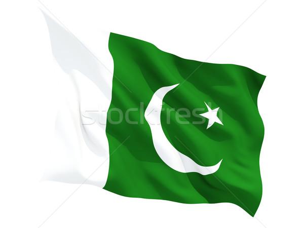Integet zászló Pakisztán izolált fehér Stock fotó © MikhailMishchenko