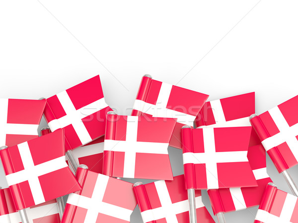 Zászló tő Dánia izolált fehér háttér Stock fotó © MikhailMishchenko