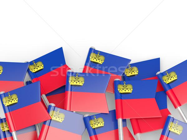 Bandiera pin Liechtenstein isolato bianco mondo Foto d'archivio © MikhailMishchenko