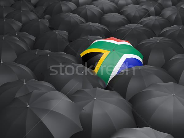 傘 フラグ 南アフリカ 黒 傘 旅行 ストックフォト © MikhailMishchenko