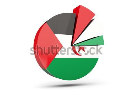 Sticker vlag Soedan geïsoleerd witte reizen Stockfoto © MikhailMishchenko