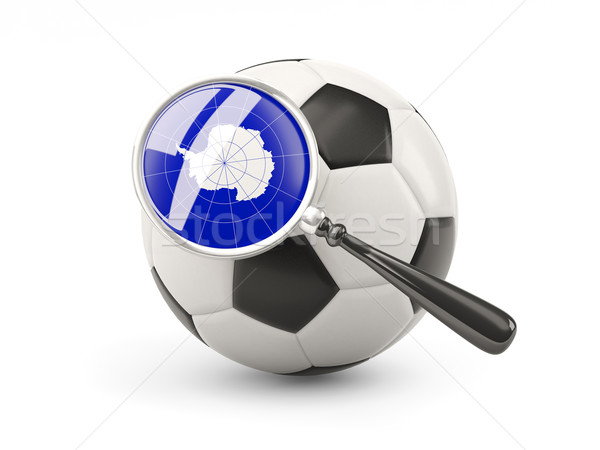 サッカー 拡大された フラグ 孤立した 白 チーム ストックフォト © MikhailMishchenko