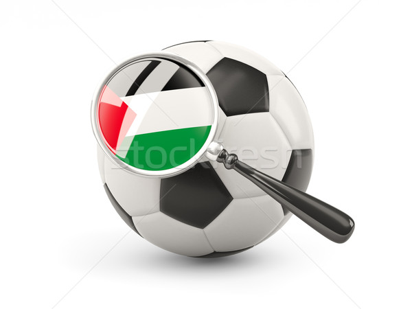 Football with magnified flag of palestinian territory Stock photo © MikhailMishchenko