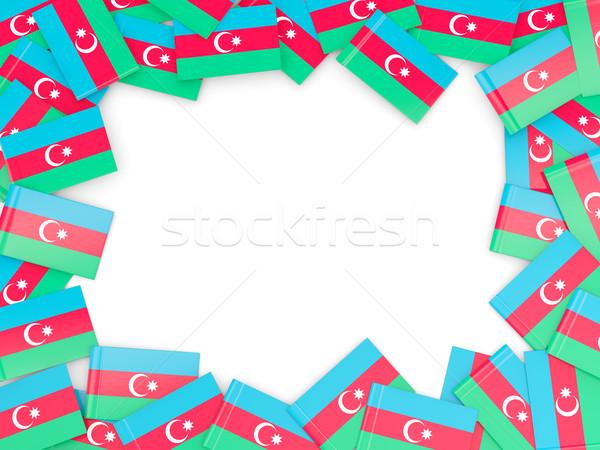 Ramki banderą Azerbejdżan odizolowany biały Zdjęcia stock © MikhailMishchenko