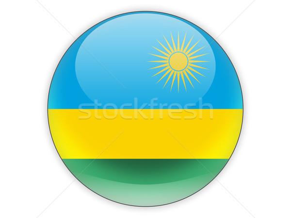 Round icon with flag of rwanda Stock photo © MikhailMishchenko