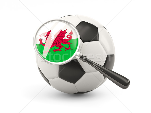 Football with magnified flag of wales Stock photo © MikhailMishchenko