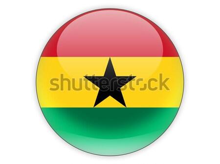 икона флаг Гана знак белый Сток-фото © MikhailMishchenko