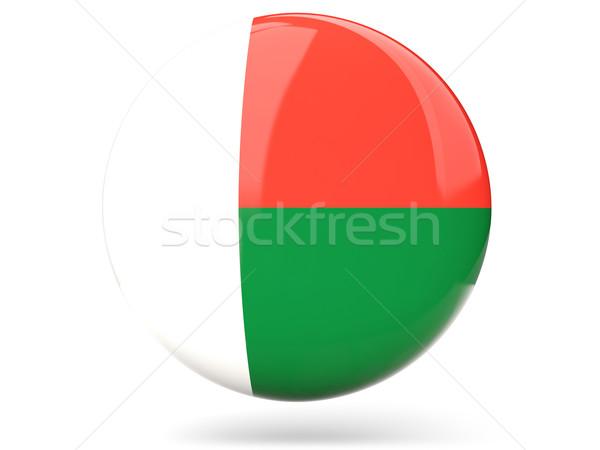 Ikon zászló Madagaszkár fényes felirat fehér Stock fotó © MikhailMishchenko