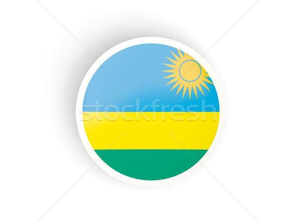 наклейку флаг Руанда изолированный белый путешествия Сток-фото © MikhailMishchenko