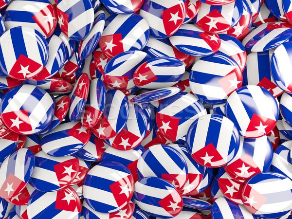 Bandiera Cuba sfondo viaggio paese cerchio Foto d'archivio © MikhailMishchenko