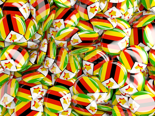 Background with round pins with flag of zimbabwe Stock photo © MikhailMishchenko