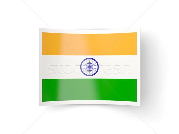 Bent icon with flag of india Stock photo © MikhailMishchenko