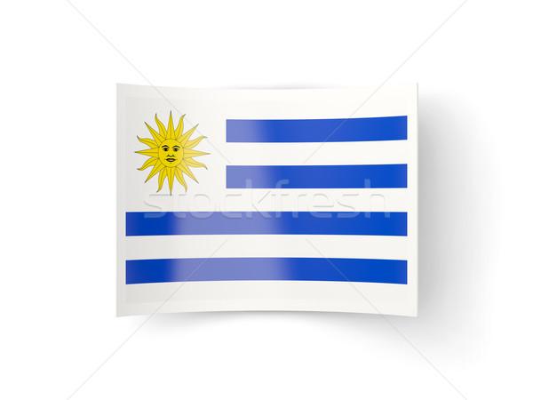 икона флаг Уругвай изолированный белый стране Сток-фото © MikhailMishchenko