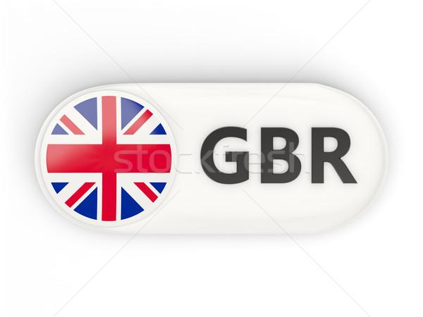 Ikon bayrak Büyük Britanya iso kod imzalamak Stok fotoğraf © MikhailMishchenko