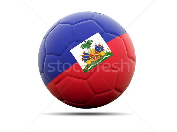 Calcio bandiera Haiti illustrazione 3d calcio sport Foto d'archivio © MikhailMishchenko
