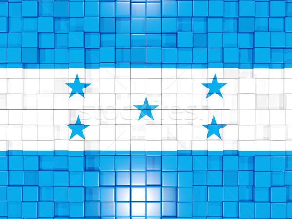 квадратный флаг Гондурас 3d иллюстрации мозаика Сток-фото © MikhailMishchenko