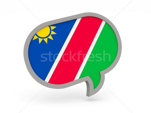 чате икона флаг Намибия изолированный белый Сток-фото © MikhailMishchenko