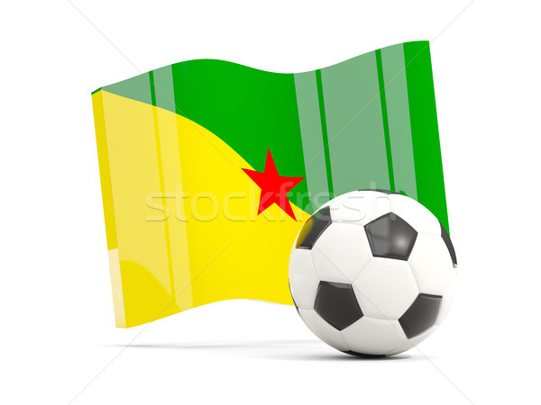 Football with waving flag of french guiana isolated on white Stock photo © MikhailMishchenko
