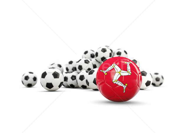 Football with flag of isle of man isolated on white Stock photo © MikhailMishchenko