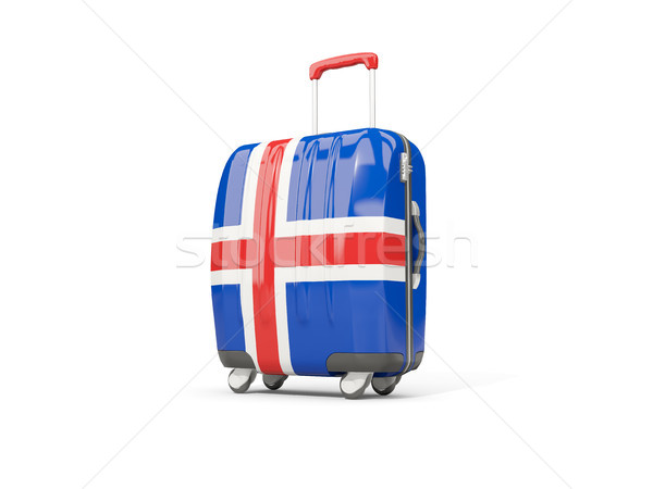 Luggage with flag of iceland. Suitcase isolated on white Stock photo © MikhailMishchenko