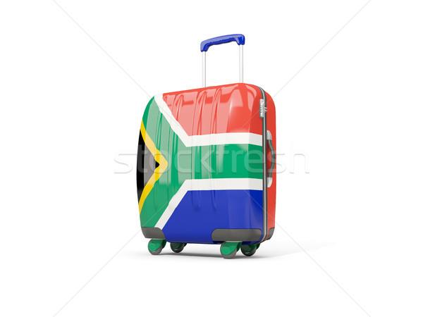 Bagages pavillon Afrique valise isolé Photo stock © MikhailMishchenko