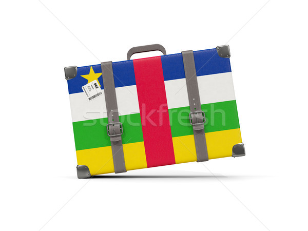 Csomagok zászló központi afrikai köztársaság bőrönd Stock fotó © MikhailMishchenko