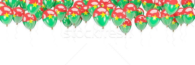 Balloons frame with flag of burkina faso Stock photo © MikhailMishchenko