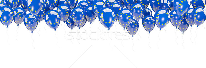 Balloons frame with flag of european union Stock photo © MikhailMishchenko