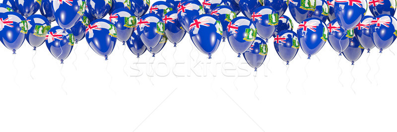 Balloons frame with flag of virgin islands british Stock photo © MikhailMishchenko