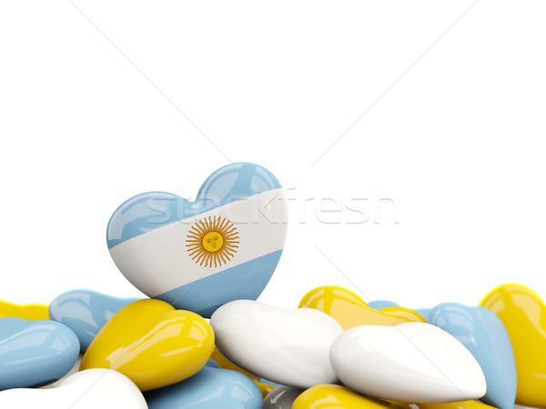 Corazón bandera Argentina superior corazones aislado Foto stock © MikhailMishchenko