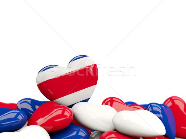 Corazón bandera Costa Rica superior corazones aislado Foto stock © MikhailMishchenko