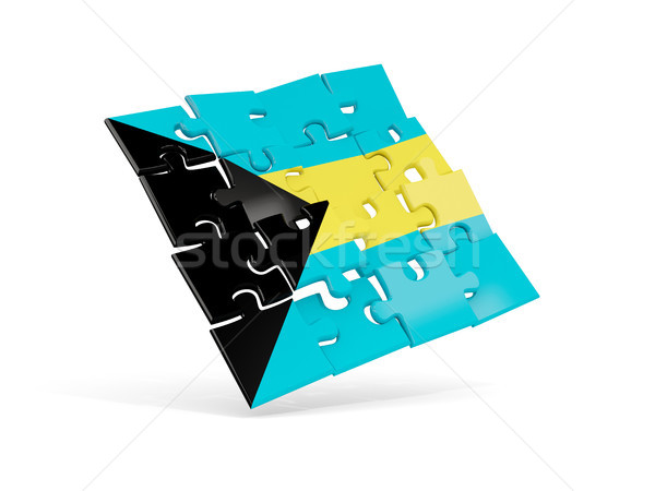 Puzzle flag of bahamas isolated on white Stock photo © MikhailMishchenko