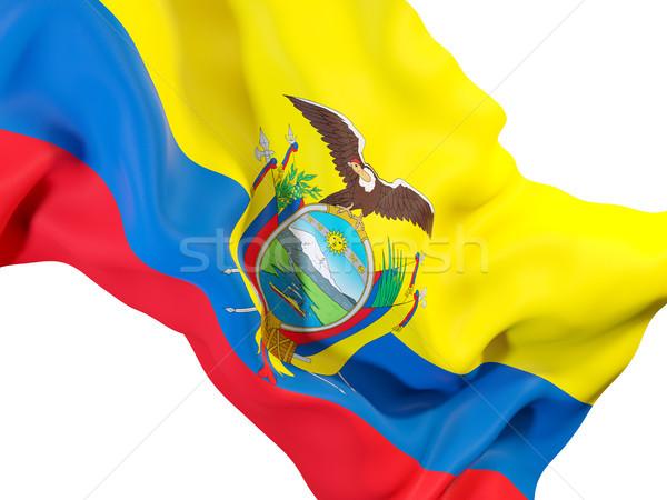 Waving flag of ecuador Stock photo © MikhailMishchenko