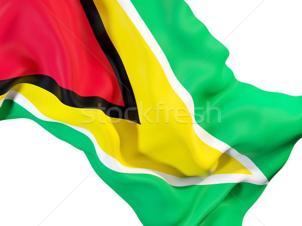 Vlag Guyana 3d illustration reizen Stockfoto © MikhailMishchenko