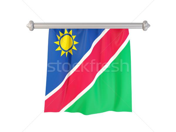 флаг Намибия изолированный белый 3d иллюстрации Label Сток-фото © MikhailMishchenko