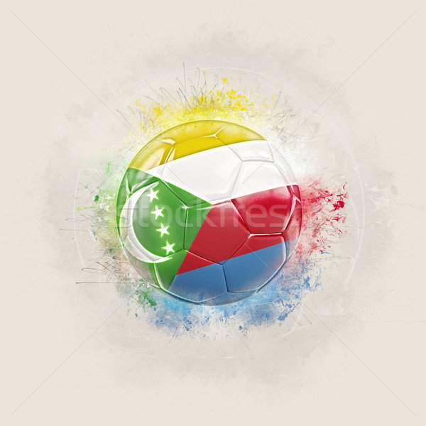Grunge football with flag of comoros Stock photo © MikhailMishchenko