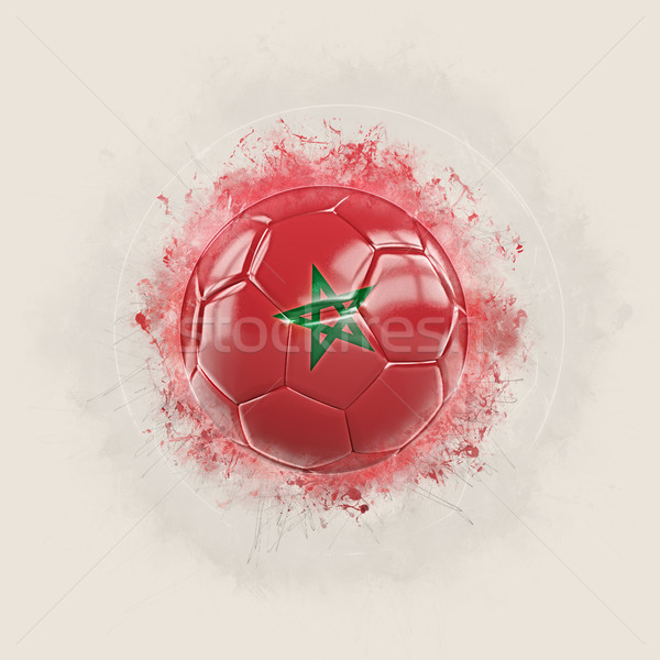 Grunge football with flag of morocco Stock photo © MikhailMishchenko
