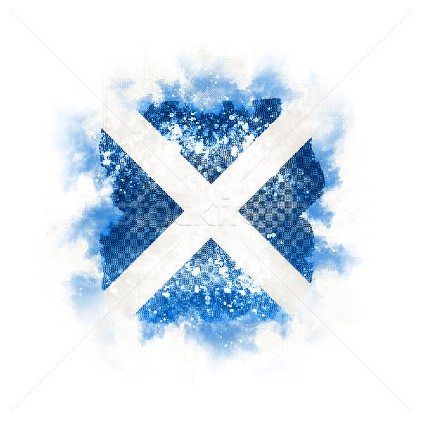 Tér grunge zászló Skócia 3d illusztráció retro Stock fotó © MikhailMishchenko
