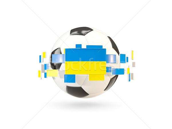 Soccer ball with line of flags. Flag of ukraine Stock photo © MikhailMishchenko