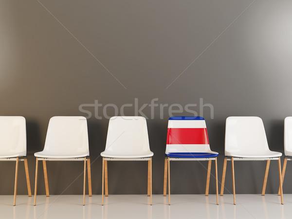 Silla bandera Costa Rica blanco sillas Foto stock © MikhailMishchenko