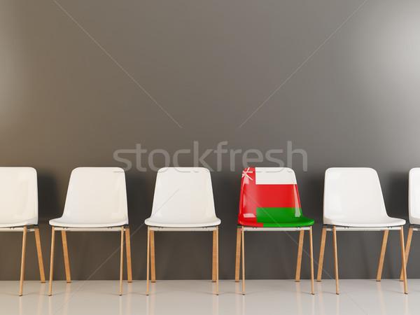 Sandalye bayrak Umman beyaz sandalye Stok fotoğraf © MikhailMishchenko