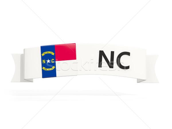 north carolina state flag on banner with postal abbreviation iso Stock photo © MikhailMishchenko