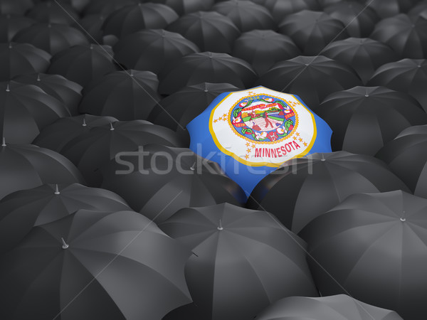 minnesota state flag on umbrella. United states local flags Stock photo © MikhailMishchenko