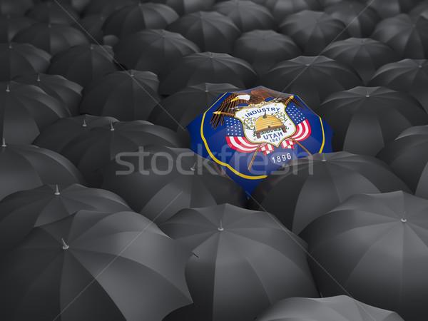 ユタ州 フラグ 傘 米国 ローカル フラグ ストックフォト © MikhailMishchenko