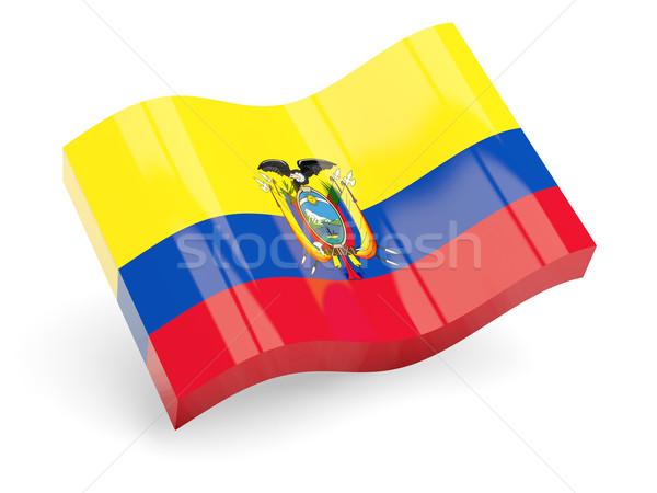 3D vlag Ecuador geïsoleerd witte reizen Stockfoto © MikhailMishchenko