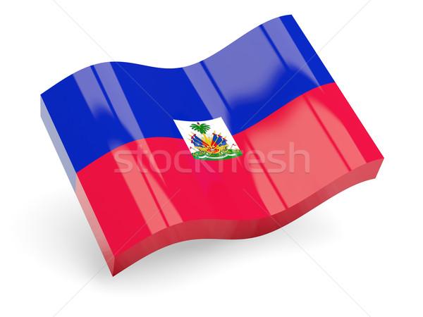 3D フラグ ハイチ 孤立した 白 波 ストックフォト © MikhailMishchenko